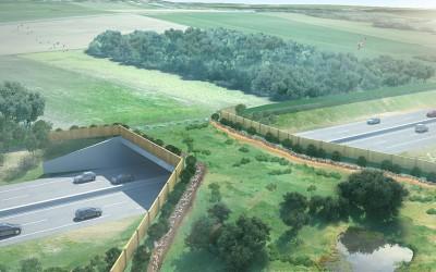 Construction de l'écopont de Viry, la restauration d'un corridor biologique entre la France et la Suisse pour la faune