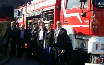 ATMB et SITMB font don du Janus du Tunnel du Mont Blanc, un véhicule unique au monde, au musée des sapeurs-pompiers de Haute-Savoie